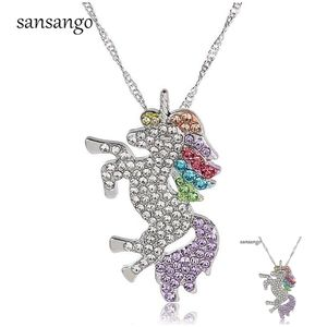 3 Color LuxuryNecklace in Sterling Silver Pendan
